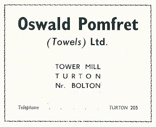 Oswald Pomfret (Towels) Ltd, Turton Mill