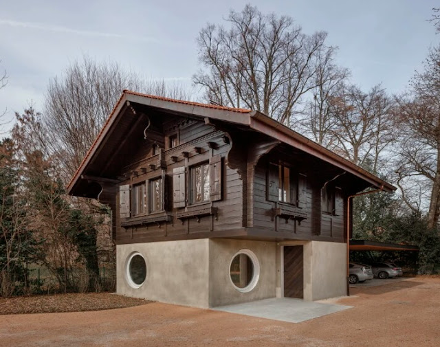 Chalet style houses beautiful projects