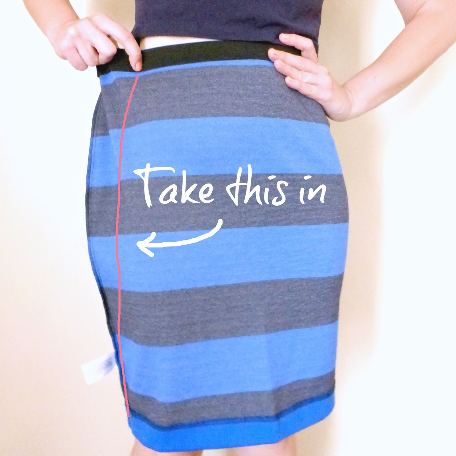 basic alterations 101, taking in a skirt on the side seams tutorial