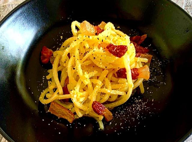 Spaghetti di Patate alla Carbonara
