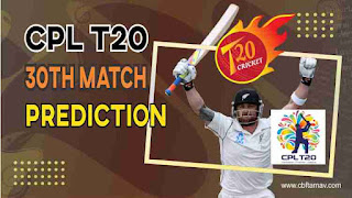 St Kitts And Nevis Patriots vs Trinbago Knight Riders CPL T20 30th 100% Sure Match Prediction
