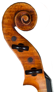 Copy of a Guarneri Del Gesù Violin Head by Nicolas Bonet Luthier - Tête d'un violon en copie de Guarneri del Gesù