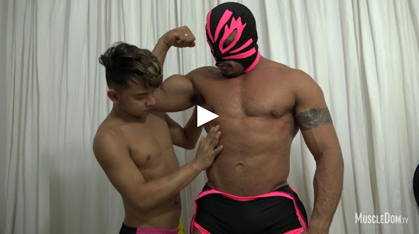 #MuscleDom - Masked Muscle Hunk Worship 3