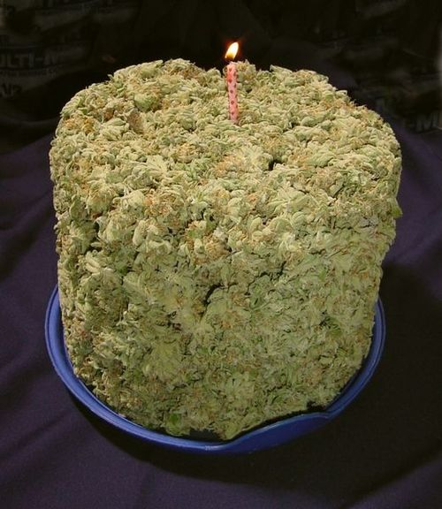 Happy Birthday Weed Cake