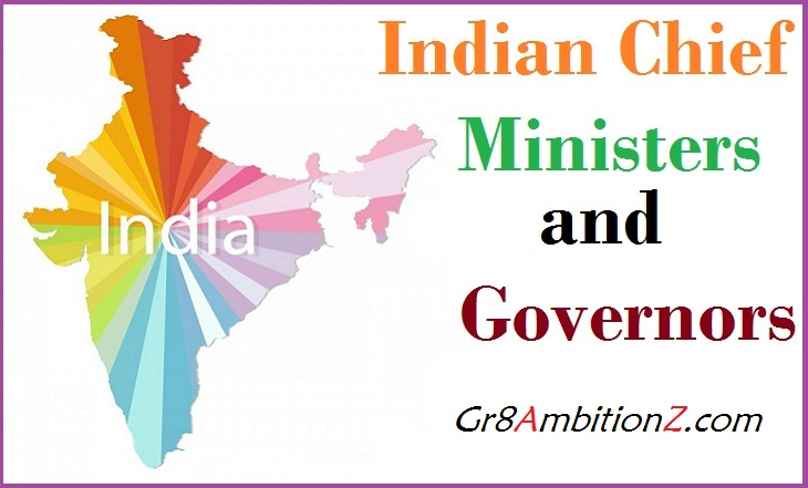Latest Chief Ministers List 2019 | Governors India 2019