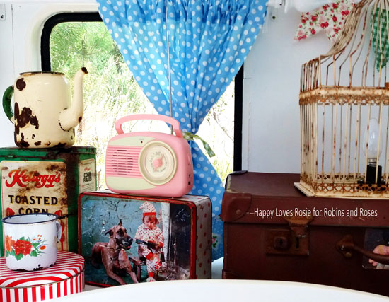 vintage enamel and retro tins