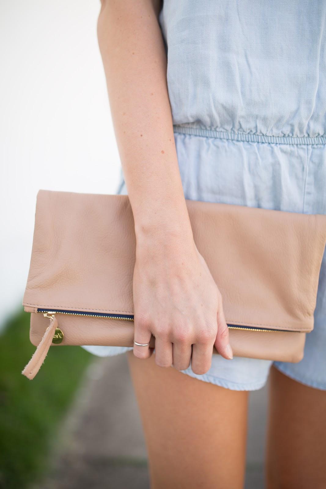 Clare V foldover clutch