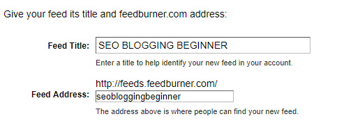 Setup Feedburner For Blogger-Blogpost