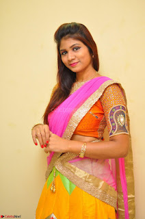 Lucky Sree in dasling Pink Saree and Orange Choli DSC 0359 1600x1063.JPG