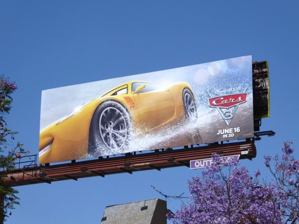 Cruz Ramirez Cars 3 movie billboard