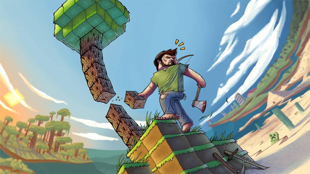 Patada De Caballo Fondos Animados: Patada De Caballo: Minecraft