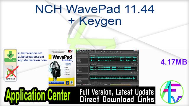 NCH WavePad 11.44 + Keygen