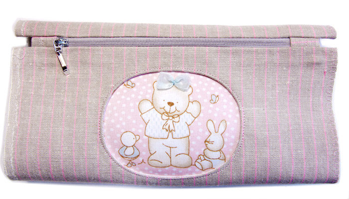 Zippered Cosmetic Bag Appliqué Teddy Bear. Tutorial DIY in Pictures.
