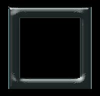 Moldura quadrada cinza escuro - criação Blog PNG-Free