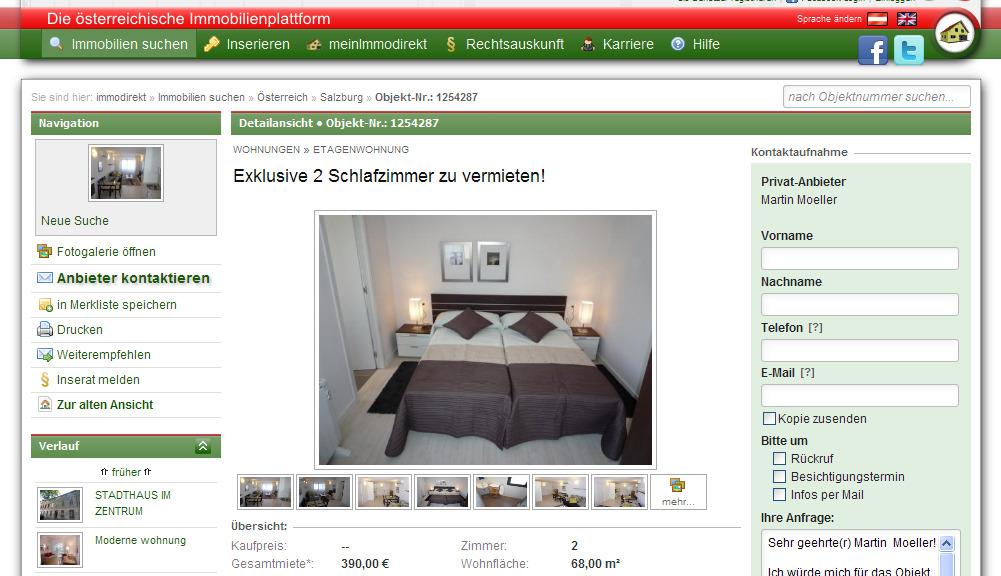 exklusive 2 schlafzimmer zu vermieten! %e2%80%a2 immodirekt.at 1338095103882