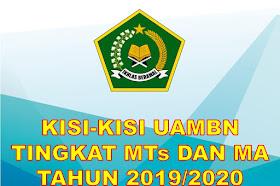 kisi kisi UAMBN Tingkat MTs Dan MA Tahun 2019-2020