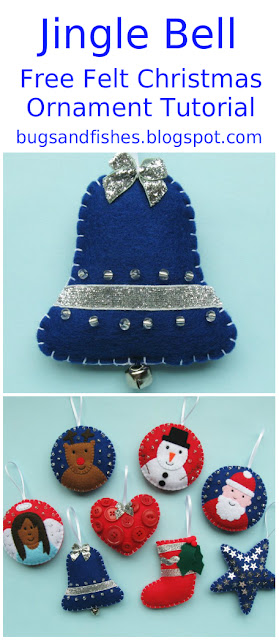 felt bell ornament tutorial
