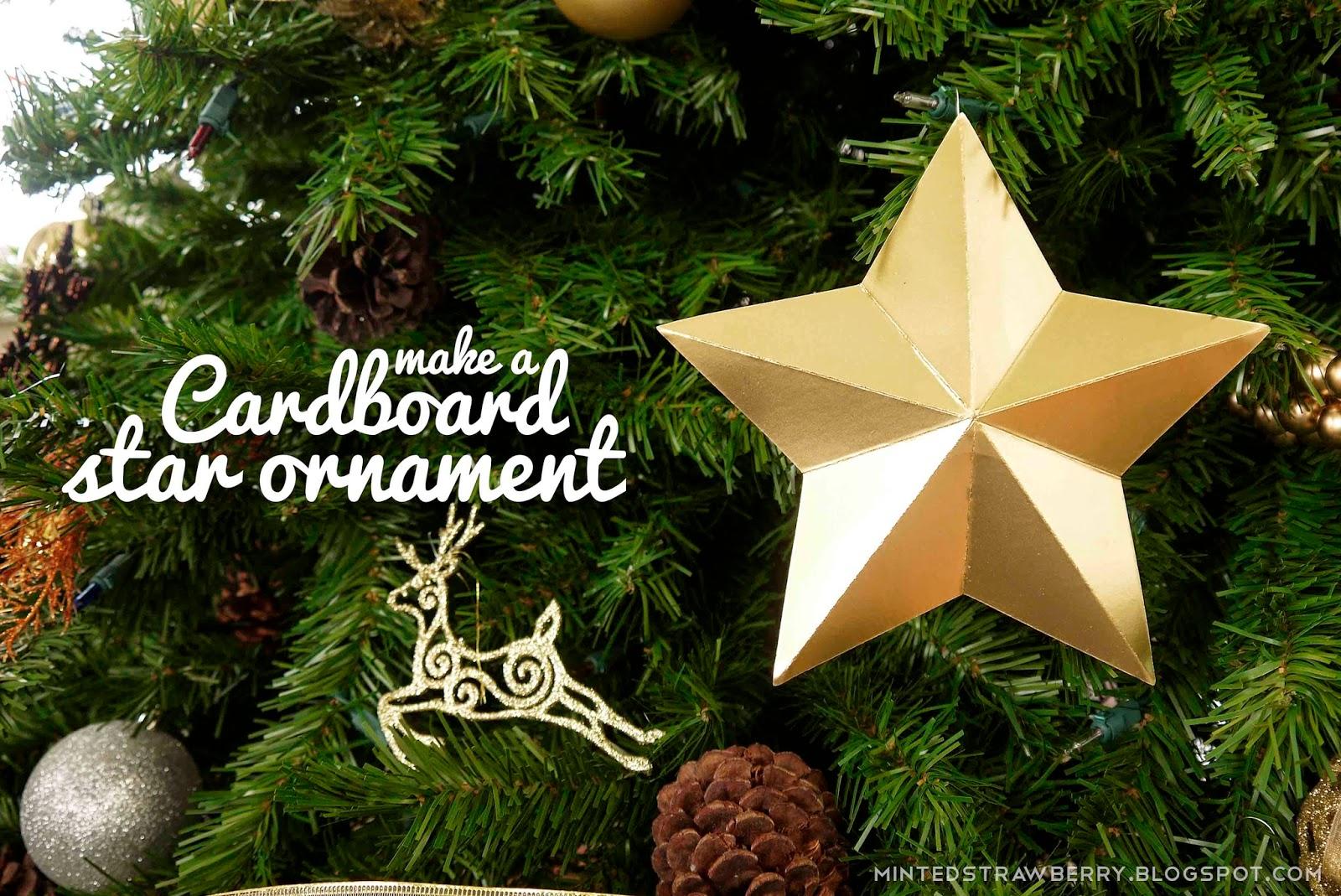 diy cardboard star ornaments tuesday november 12 i am the resident christmas