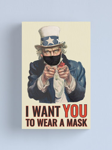 Uncle Sam - I want you to wear a mask - posters and canvas