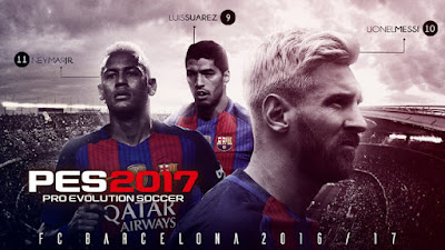 PES 2017 Barcelona Start Screen