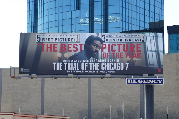 Trial of the Chicago 7 nominee billboard