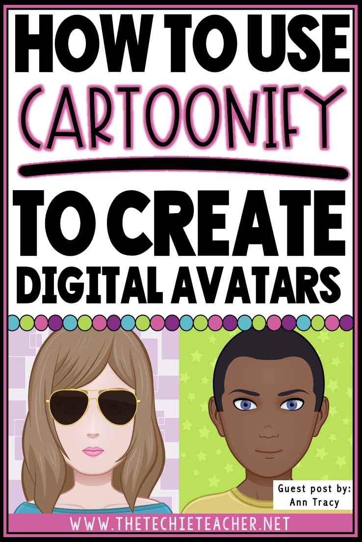 How to use the free web tool, Cartoonify, to create digital avatars for the classroom. Create an avatar for profile pictures, getting to know you activities, writing prompts and more!