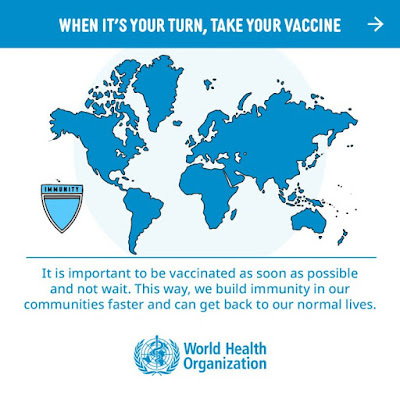 It's important to get vaccinated quickly and get back to our lives World Health Organisation