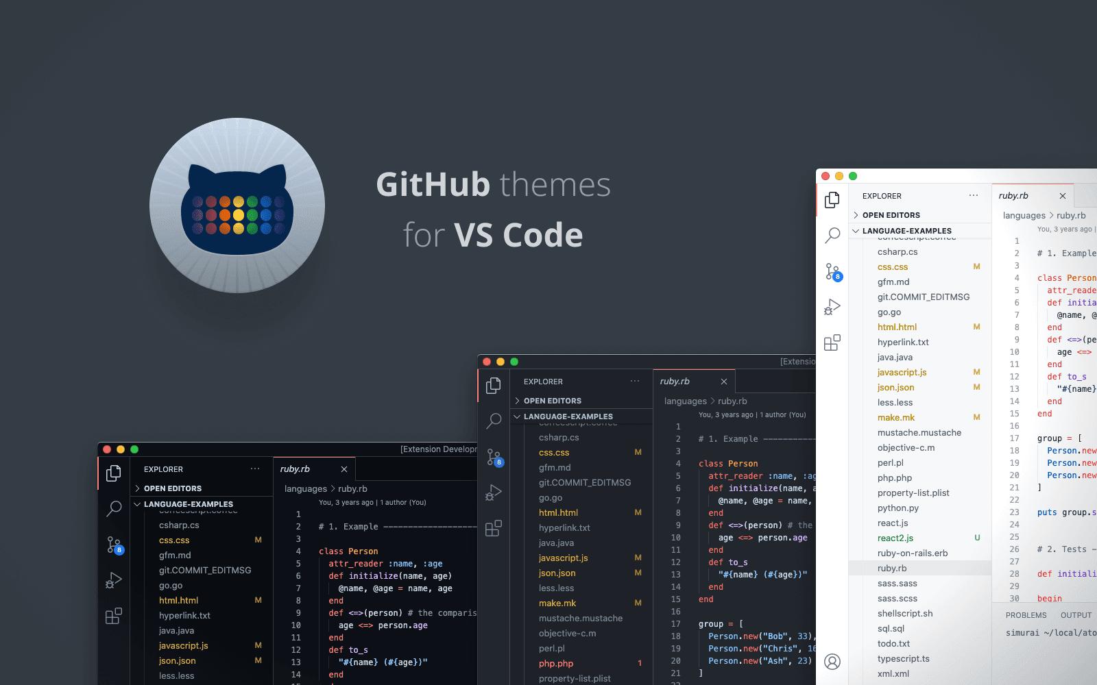 github theme for vs code 2021