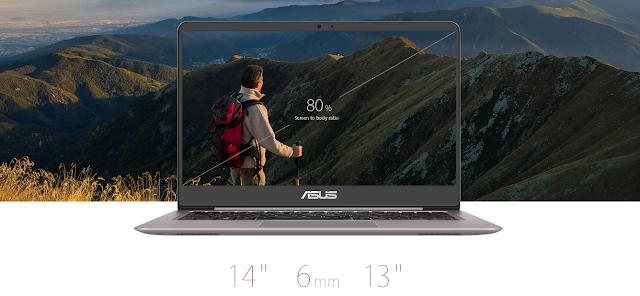 tampilan dari  Asus Zenbook UX410UQ
