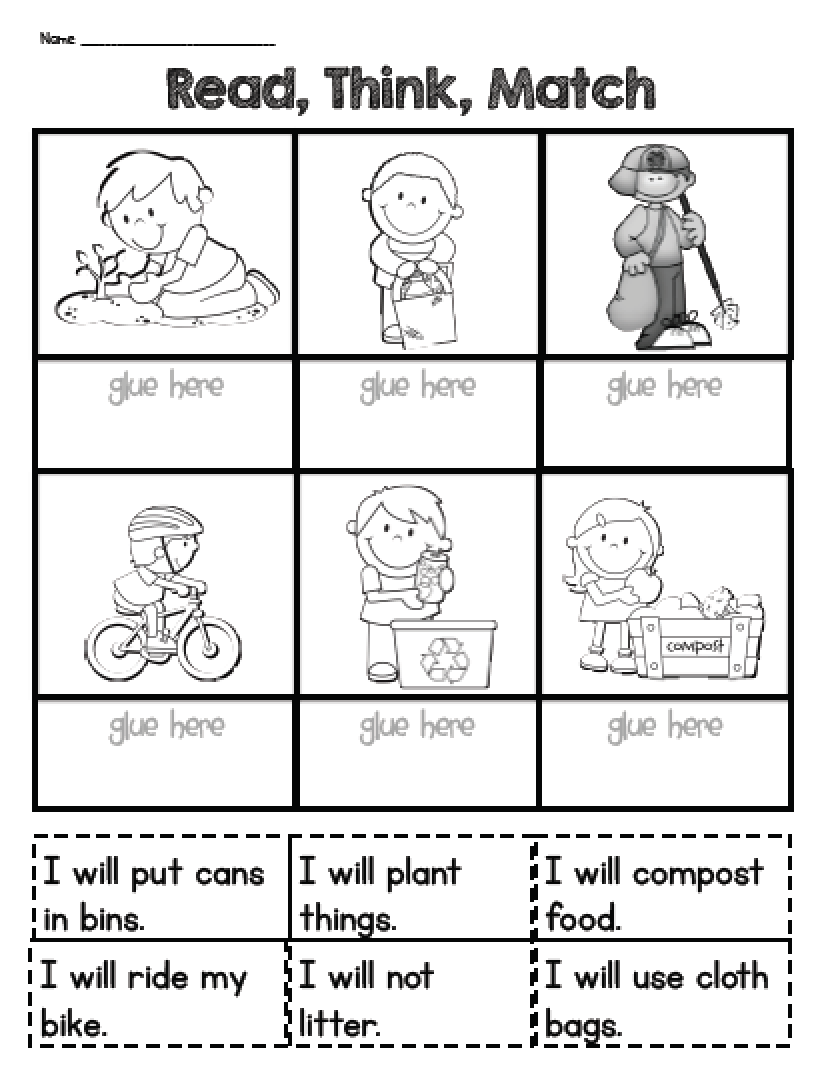 Sarahs First Grade Snippets Earth Day Printable Reading Activity