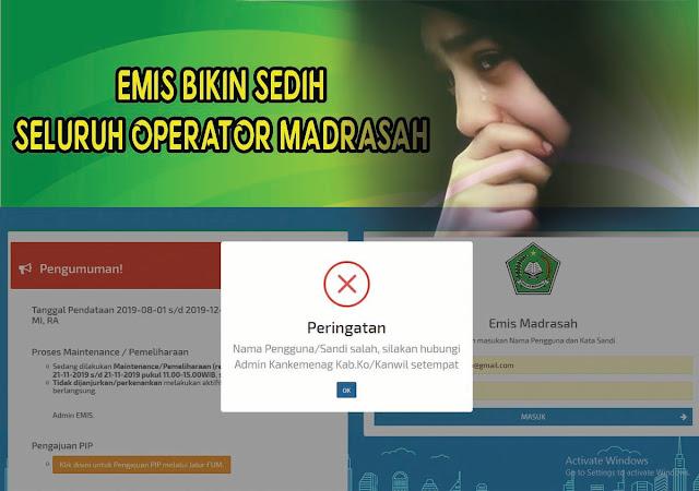 Jelang Akhir Pendataan Situs EMIS Down dan Mogok, Begini Solusinya
