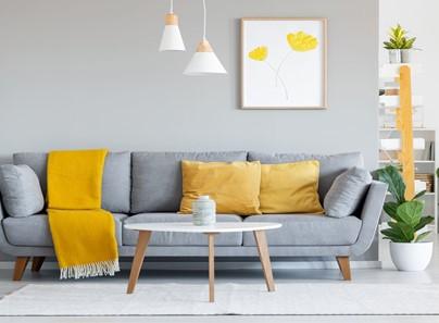 صور ديكورات باللون الاصفر