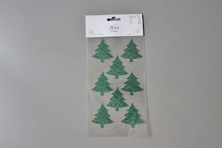 zakupy z TEDi świąteczne naklejki choinki