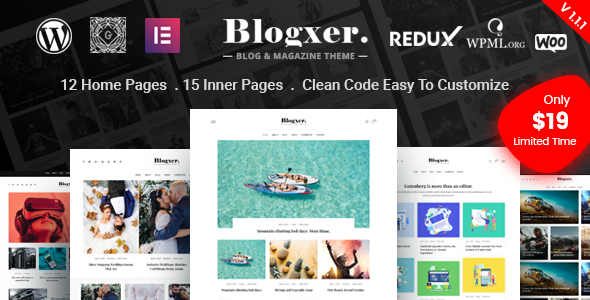 Blogxer - Blog & Magazine WordPress Theme Free Download