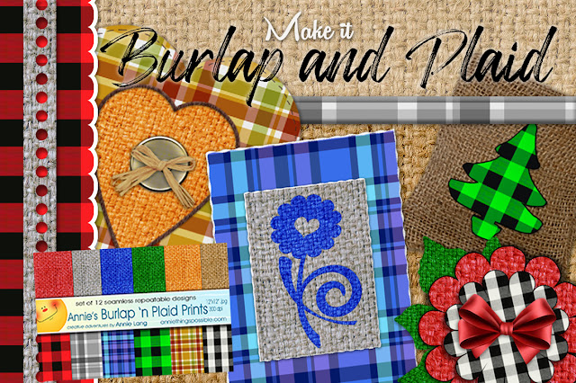 Make it with color and texture with Annie Lang's digital Burlap 'n Plaid designer papers from Creative Market because Annie Thing Possible with a little imagination!