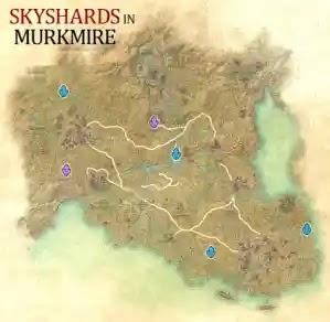 Murkmire Skyshards Location Map The Elder Scrolls Online (ESO)