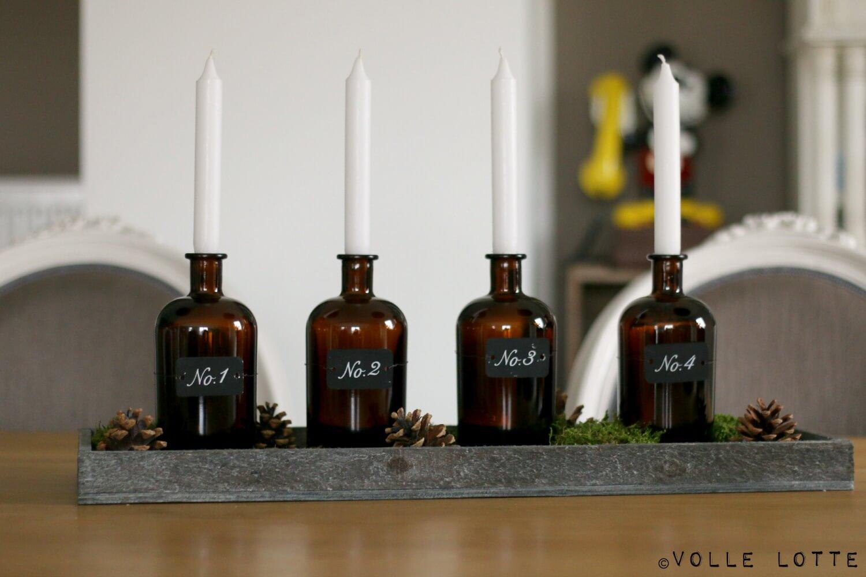 ein adventskranz f r gin liebhaber volle lotte. Black Bedroom Furniture Sets. Home Design Ideas