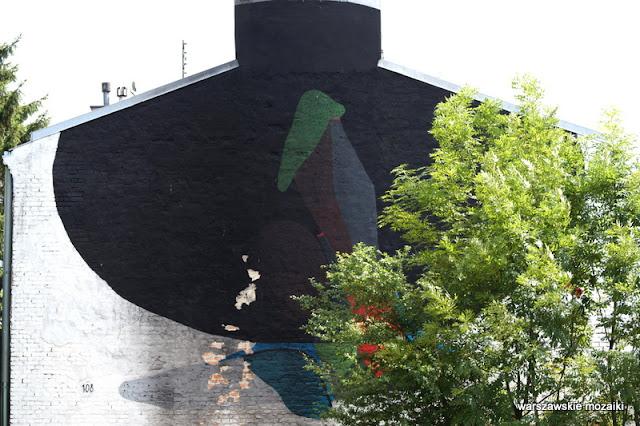 Warszawa Warsaw mural ściana Praga Południe