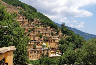 "The spectacular Masooleh village, popularly known as ""The yard of the building above is the roof of the building below"", is surrounded by wonderful and eye-catching natural scenery. This stepped village, in its beautiful peaceful, gives its residents and visitors a really true taste of happiness and pleasant."