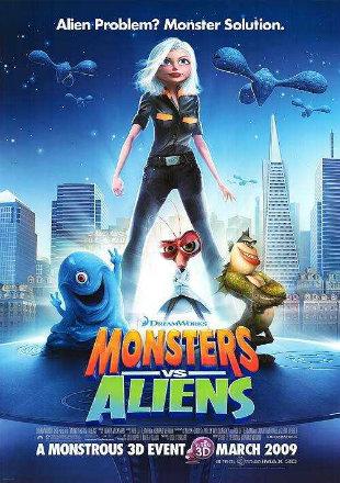 Monsters vs Aliens 2009 BRRip 720p Dual Audio In Hindi English ESub