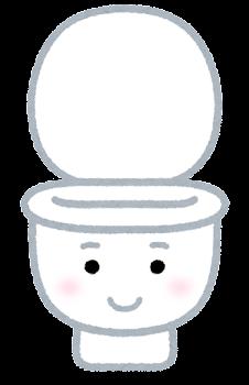 トイレのキャラクター(開いた状態)
