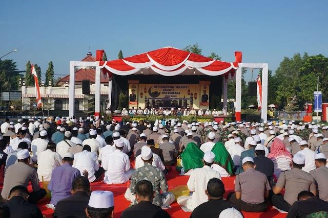Istighosah Akbar Untuk Pilkada Bangkalan Aman dan Damai