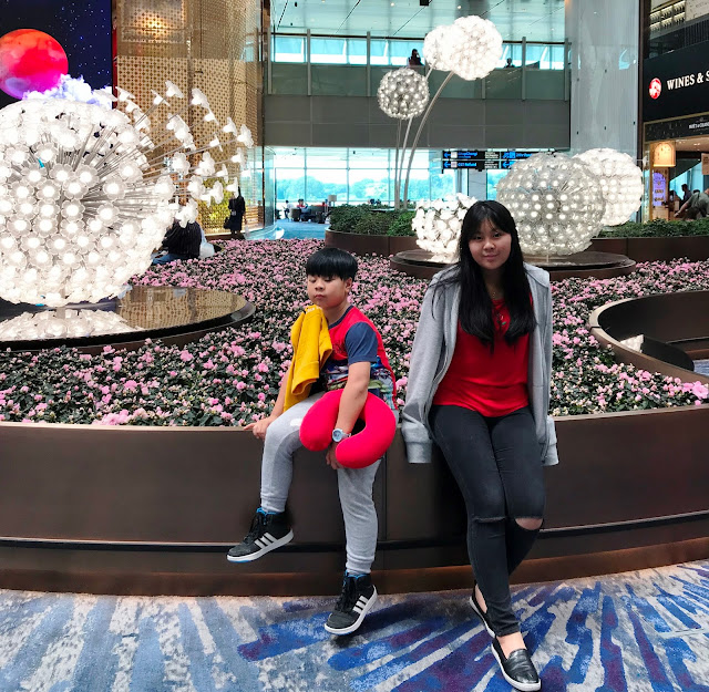 Mica and Prince at Crystal Garden at Changi Airport