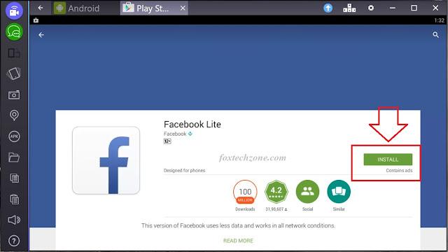 facebook lite on pc windows