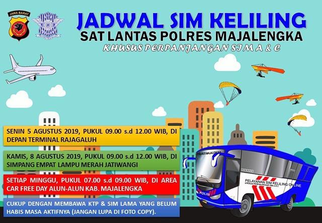 SIM Keliling Majalengka Agustus 2019-IGsatlantas_mjlk