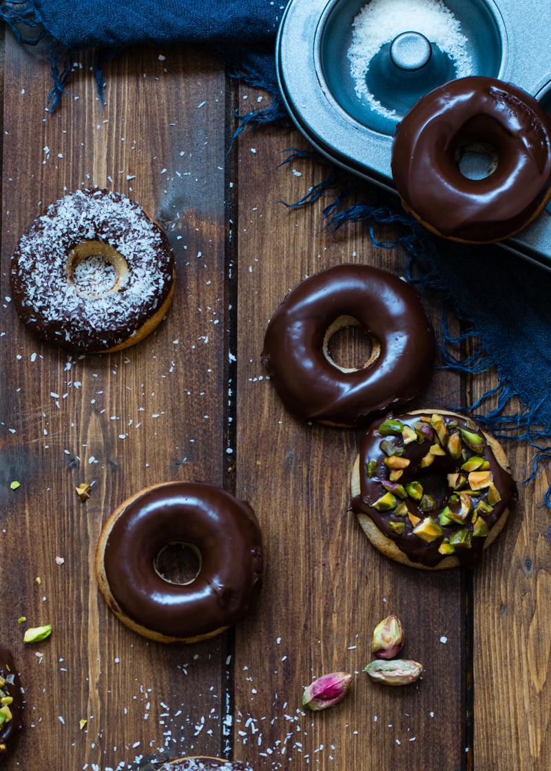 Mini donuts sin azúcar y al horno, ligeros y saludables