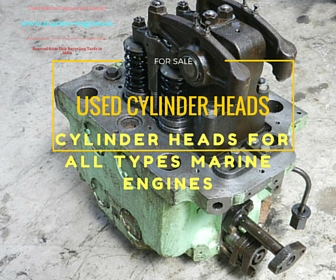 Cylinder Head, Marine, Diesel Engine, Main Engine, Ship, Spare Part, Used, reusable, Recycle, shipyard