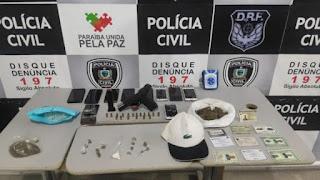 Polícia Civil prende grupo suspeito de tráfico de drogas e roubo a bancos que atuava em Estados do Nordeste