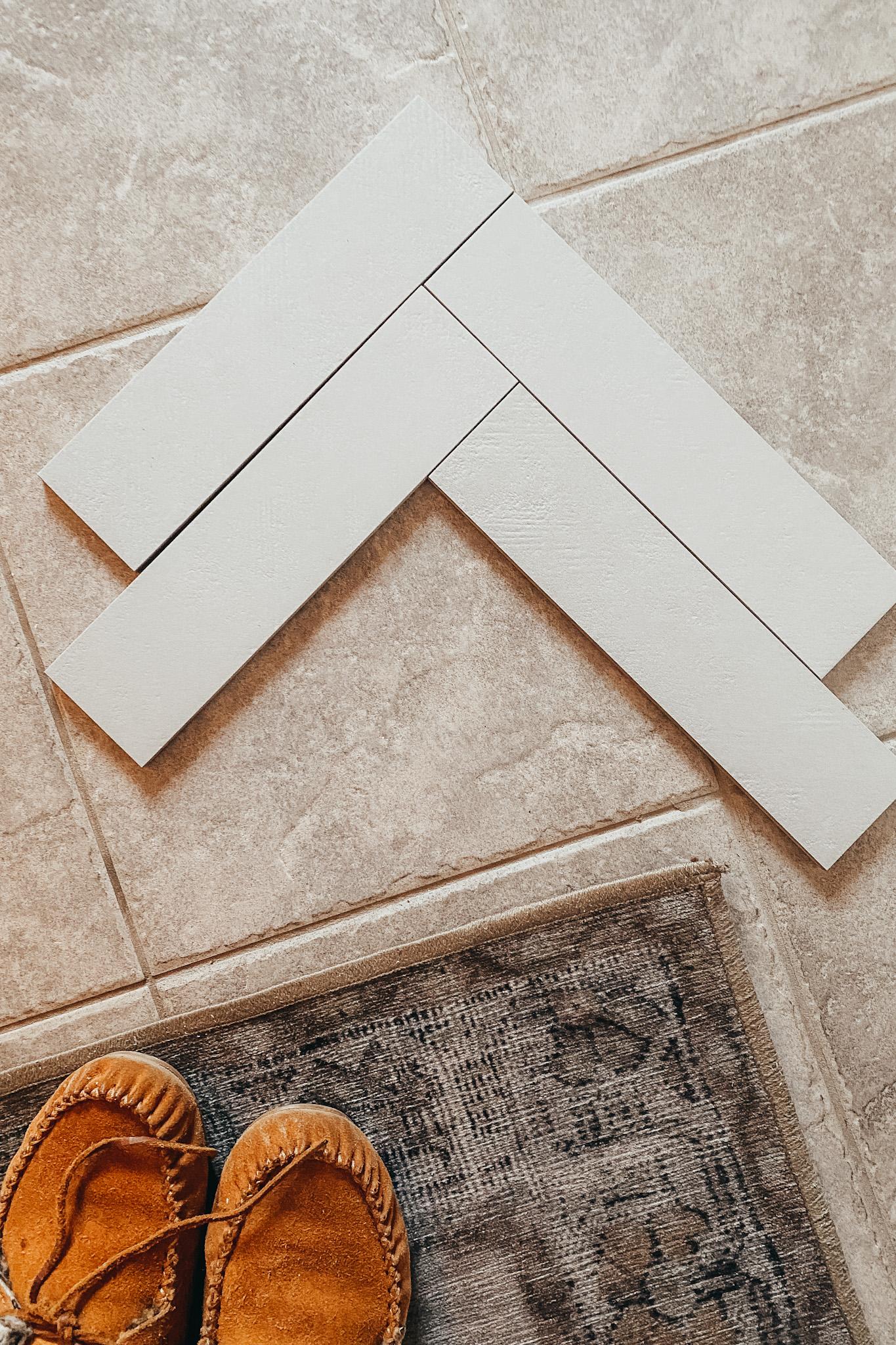 Herringbone Tile Entryway