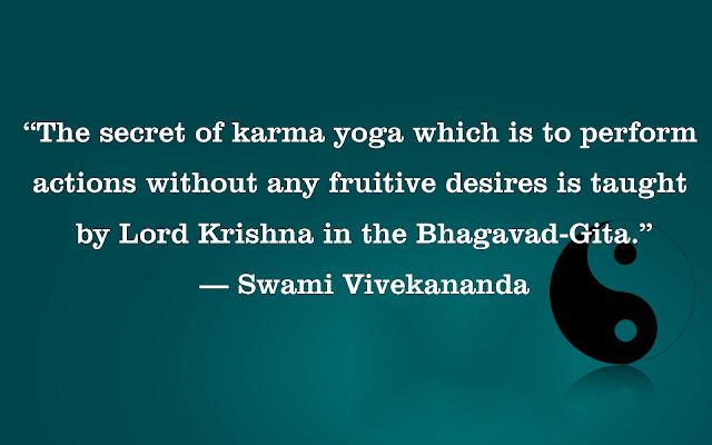 Karma Quote by Swami Vivekananda